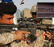 Armele soldatilor SUA inscriptionate cu coduri biblice secrete despre Isus. Foto: ABC News