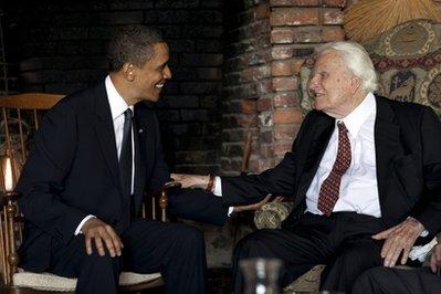 Presedintele Obama s-a intalnit cu Billy Graham