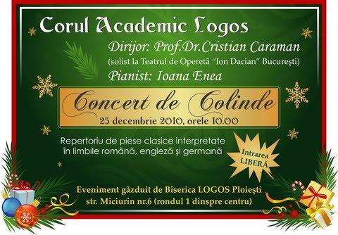 Concert de Colinde la Biserica LOGOS Ploiesti