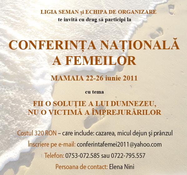 Conferinta Nationala a Femeilor la Mamaia