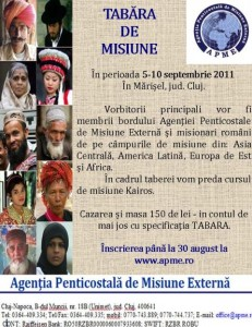 Tabara de misiune APME 2011
