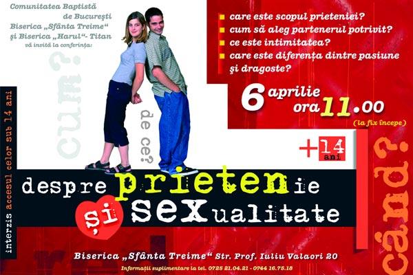 Conferinta despre prietenie si sexualitate