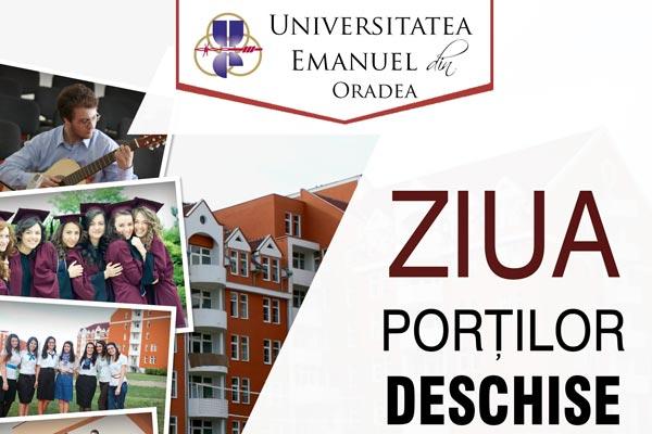 """Ziua Por?ilor Deschise la Universitatea """"Emanuel"""" Oradea"""