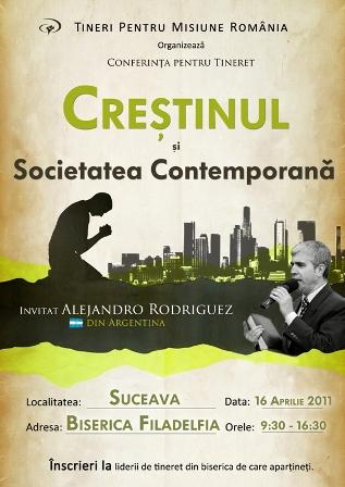 """Crestinul si societatea contemporana"" cu Alejandro Rodriguez la Suceava"